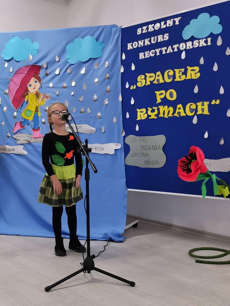 Szkolny Konkurs Recytatorski Spacer Po Rymach W Naszej